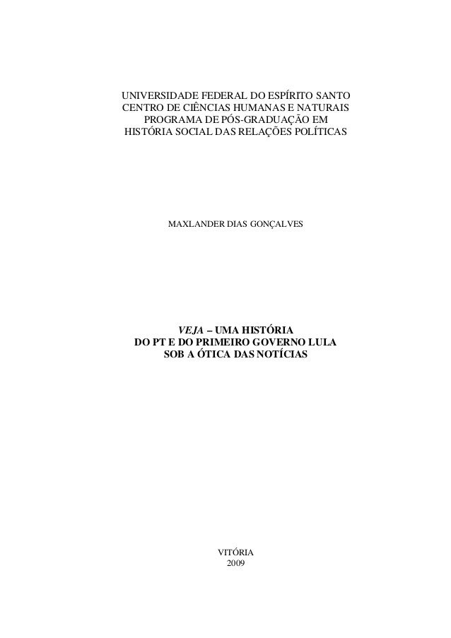 UNIVERSIDADE FEDERAL DO ESPÍRITO SANTO CENTRO DE CIÊNCIAS HUMANAS E NATURAIS PROGRAMA DE PÓS-GRADUAÇÃO EM HISTÓRIA SOCIAL ...