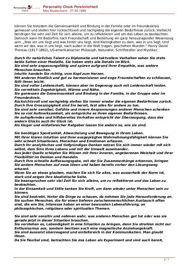 Persönlichkeitsprofil 27.05.1986 Slide 2
