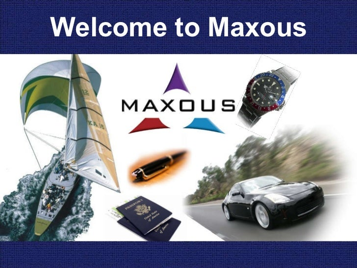 Welcome to Maxous