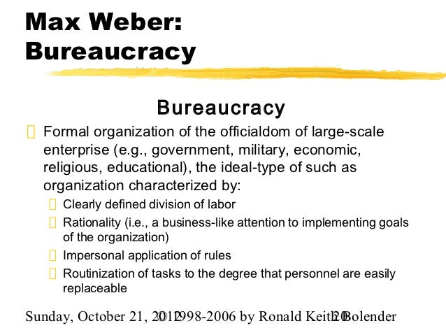 bureaucracy contribution Some people use bureaucracy as a dirty word i don't bureaucracy attempts to define and describe all tasks that an organization is to perform and to recruit and assign people and other resources to those tasks this does not always result in effi.