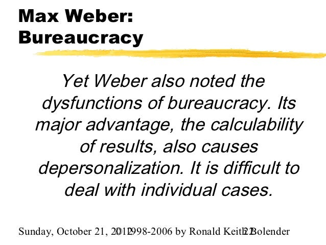 Max weber on bureaucracy