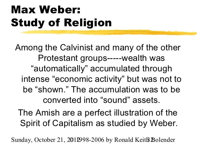 weber and religion