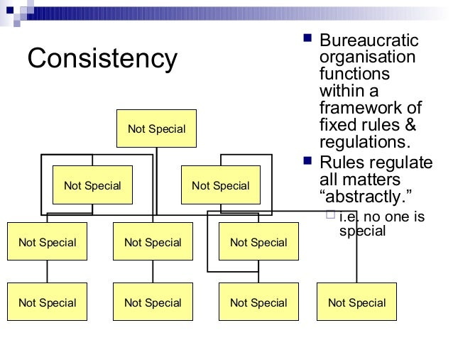 bureaucracy a theory introduced by max