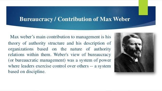 webers concept of bureaucracy