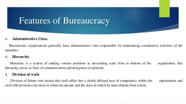 Bureaucratic Theory definition by Max Weber
