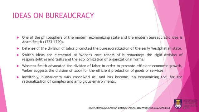 bureaucracy in modern organisation The largest growth of the bureaucracy in american history came between 1933 and 1945 franklin roosevelt's new deal meant bigger government, since agencies were needed to administer his many programs with the american entry into world war ii in 1941, the needs of the war elevated the number of federal agencies and employees even more.