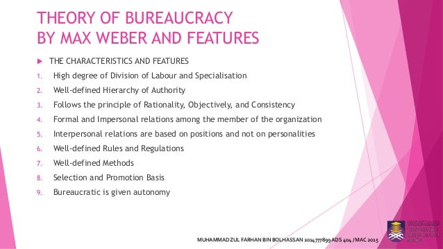 webers bureaucratic model Max weber's theory of bureaucracy and its criticism 1 max weber's theory of bureaucracy and its criticism student name : muhammad zul farhan bin bolhassan student id : 2014777899 campus : q – uitm kampus samarahan faculty : administrative science.