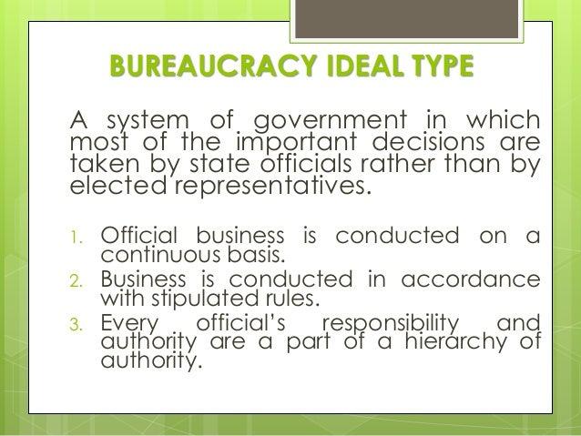 max weber ideal type bureaucracy