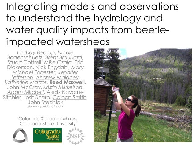 Integrating models and observations to understand the hydrology and water quality impacts from beetle- impacted watersheds...