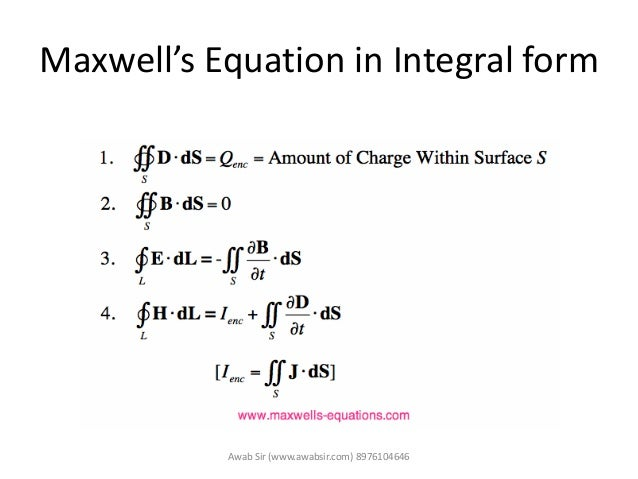 Maxwells equation WTP