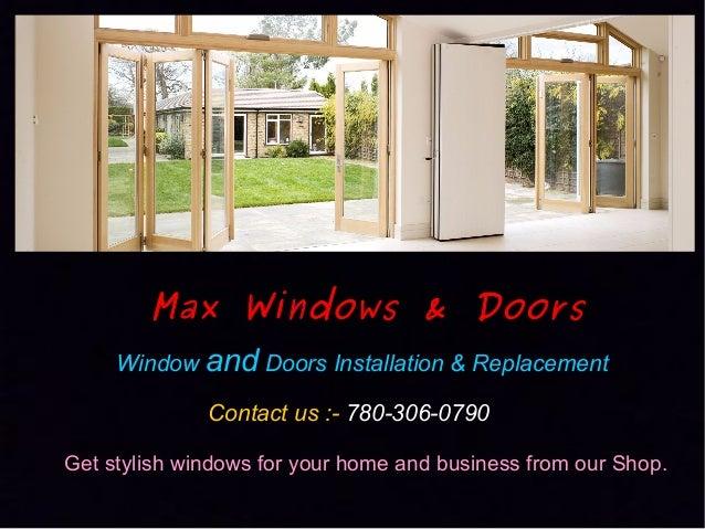 Max Windows Doors Edmonton