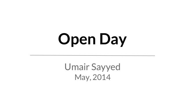 May ANAND FRAPPE DOSHI OPEN DAY HEM '14 HEM