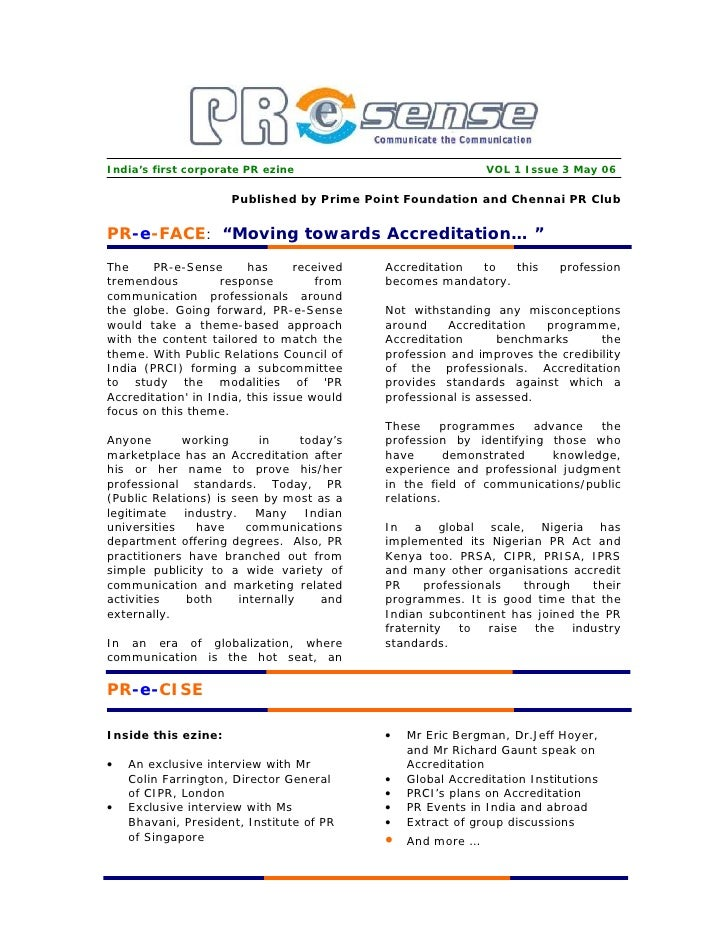 India's first corporate PR ezine                              VOL 1 Issue 3 May 06                        Published by Pri...