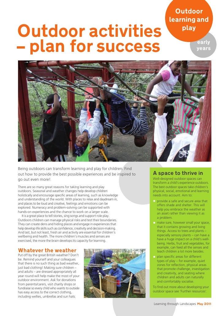 Outdoor                                                                                          learning andOutdoor activ...