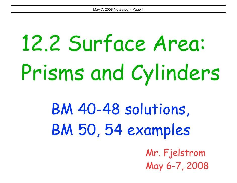 May 7, 2008 Notes.pdf - Page 1