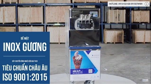 Máy làm kem tươi Hải Âu HAK 323 sản xuất thành phẩm kem vô cùng nhanh chóng