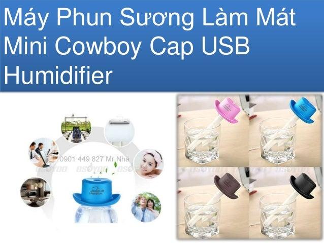 Máy Phun Sương Làm Mát Mini Cowboy Cap USB Humidifier