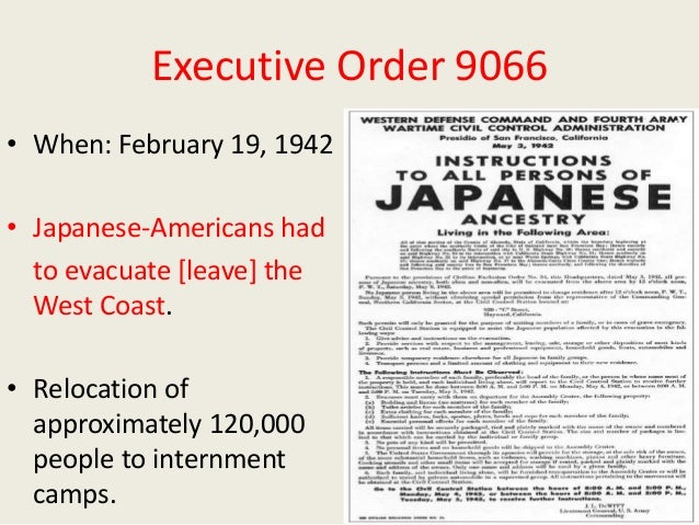 Roosevelt signs Executive Order 9066