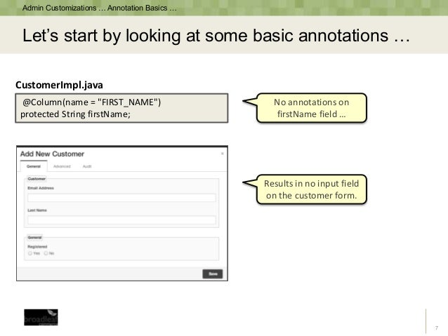 Dynamically Generate a CRUD Admin Panel with Java Annotations