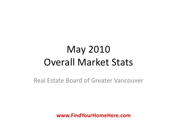May 2010Overall Market Stats<br />Real Estate Board of Greater Vancouver<br />www.FindYourHomeHere.com<br />
