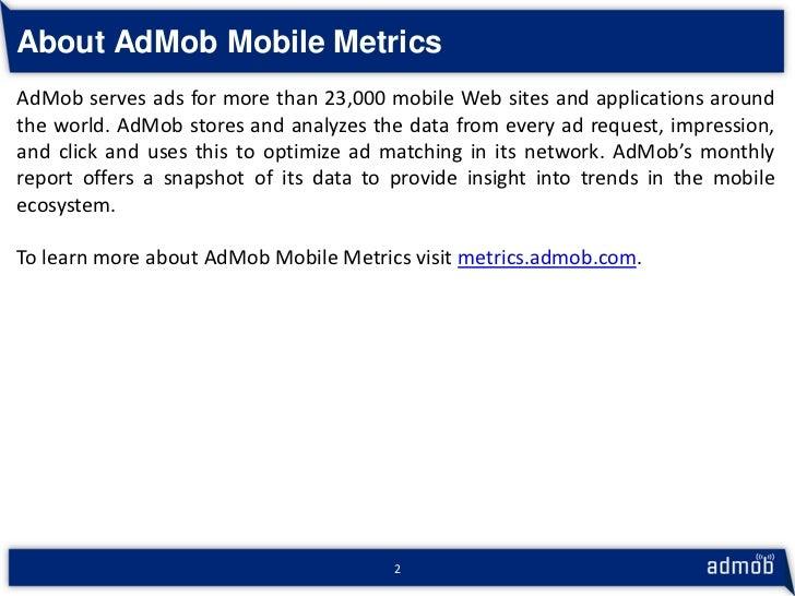 AdMob Mobile Metrics - May 2010 - Highlights Slide 3