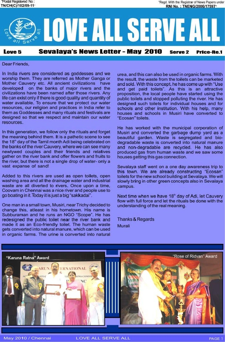 May 2010 News Letter