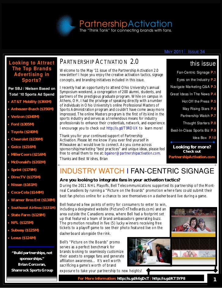 MAY 2011    ISSUE 34Looking to Attract              PARTNERSHIP ACTIVATION 2.0                                            ...