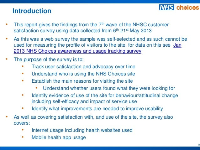 May  Nhs Choices Site User Satisfaction Survey