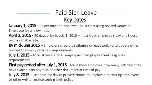 Understanding California S New Paid Sick Leave Law And