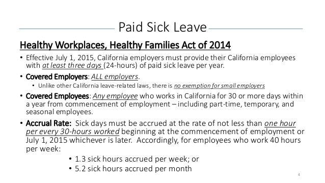 california labor law sick time doctors note