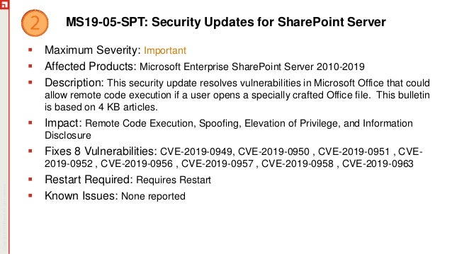 May Patch Tuesday Analysis 2019