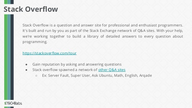 Stack Overflow is a question and answer site for professional and enthusiast programmers. It's built and run by you as part...