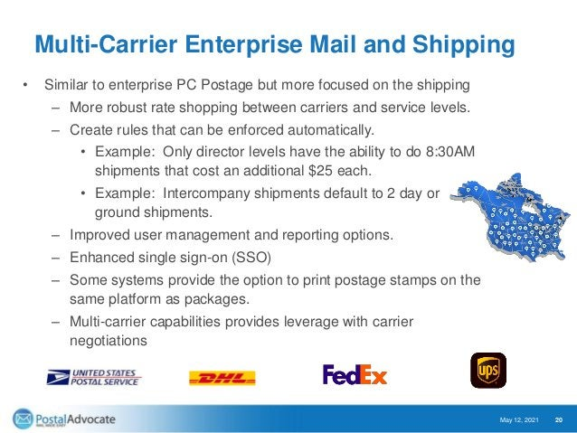 Expedited Document and Parcel Shipping Most Organizations • Contract Negotiations • Freight Audit – Looking for late shipm...