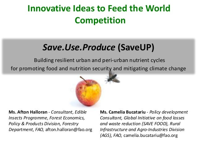 Save.Use.Produce (SaveUP)Building resilient urban and peri-urban nutrient cyclesfor promoting food and nutrition security ...