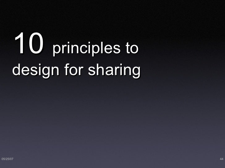 10  principles to design for sharing