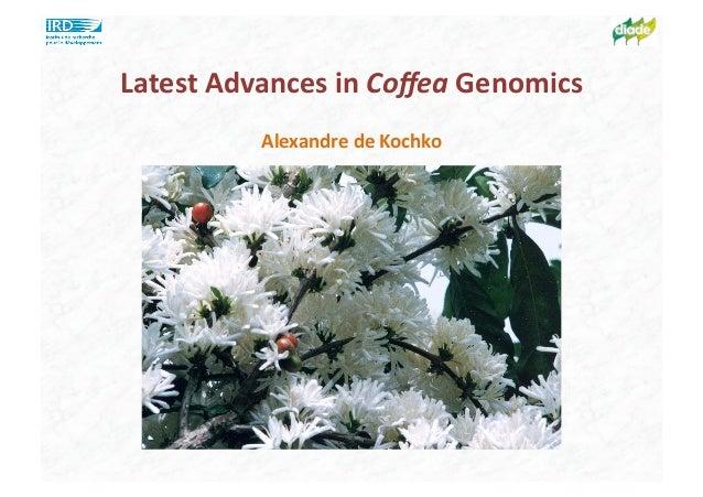 Latest Advances in Coffea Genomics Alexandre de Kochko
