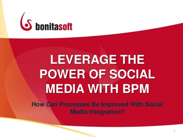 LEVERAGE THEPOWER OF SOCIALMEDIA WITH BPM1How Can Processes Be Improved With SocialMedia Integration?