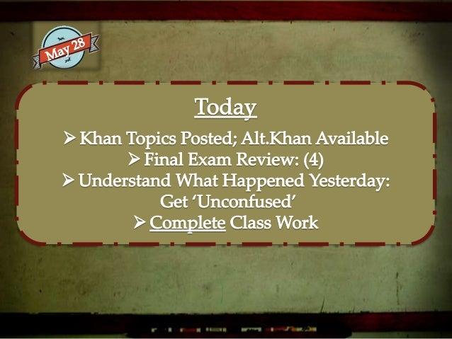 Final Exam Review: