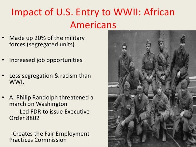Impact of WWII on Women & African Americans