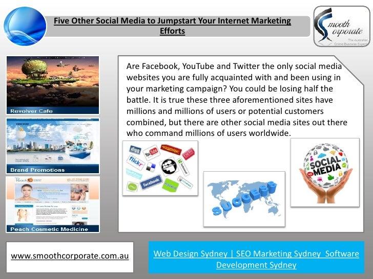 Five Other Social Media to Jumpstart Your Internet Marketing                                     Efforts                  ...