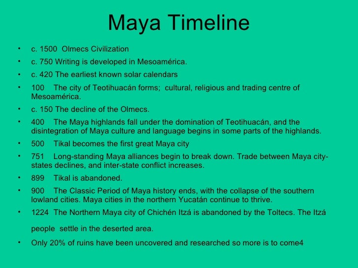 maya civilization 3 essay Maya dbq 1 in which area were most of the earlier mayan cities built 2 in which area were most of the later mayan cities built 3 near what geographic feature were many mayan cities built near 4 which center is closest  mayan civilization from the fact they built temples such as the one shown 7 section 6 mayan pyramid 14 what does the.