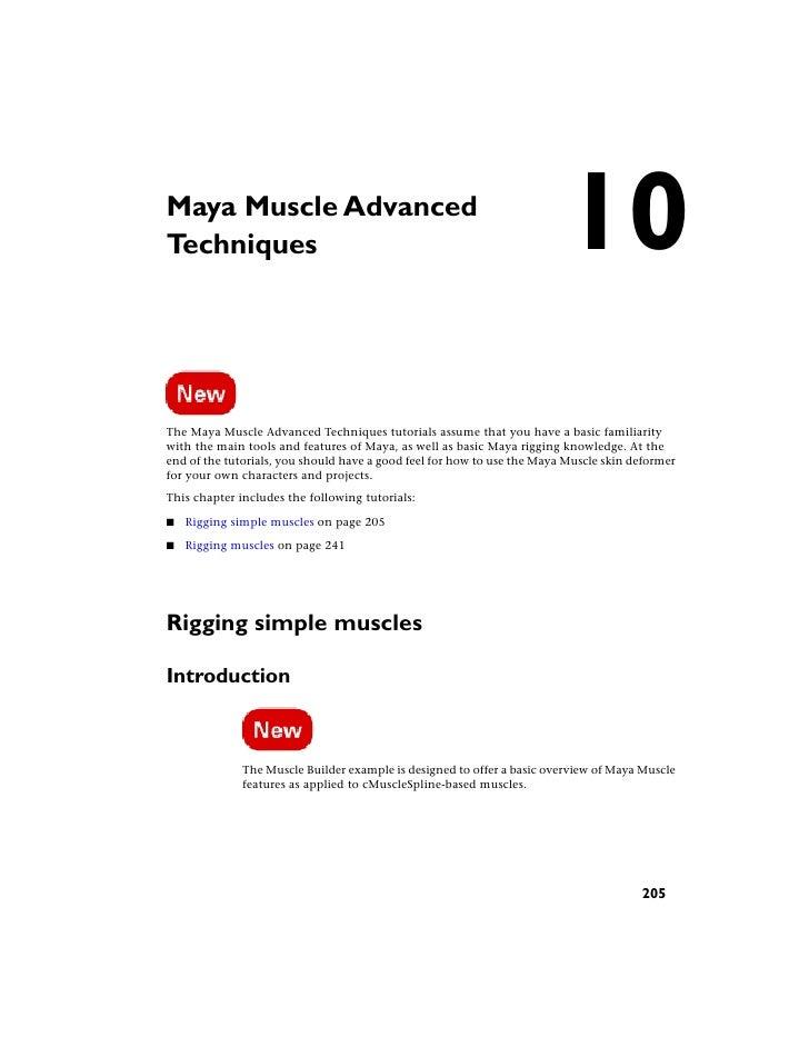 Maya Muscle Advanced Techniques                                                               10 The Maya Muscle Advanced ...