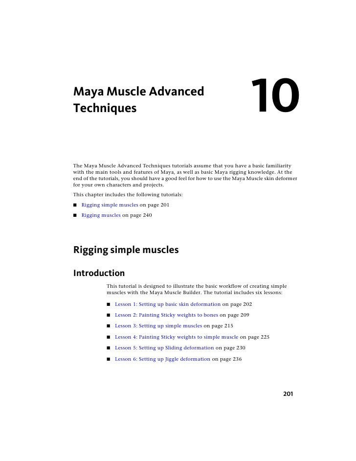 Maya Muscle Advanced Techniques                                                                 10 The Maya Muscle Advance...