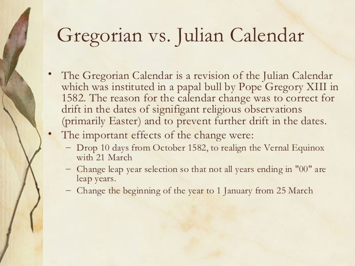 Change From Julian To Gregorian Calendar Time And Date Mandegar Info