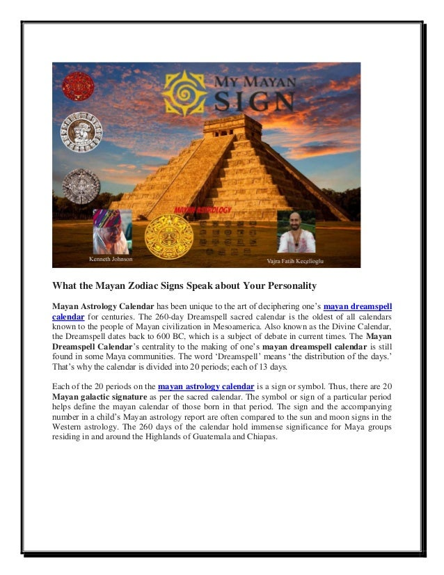 Free mayan astrology report