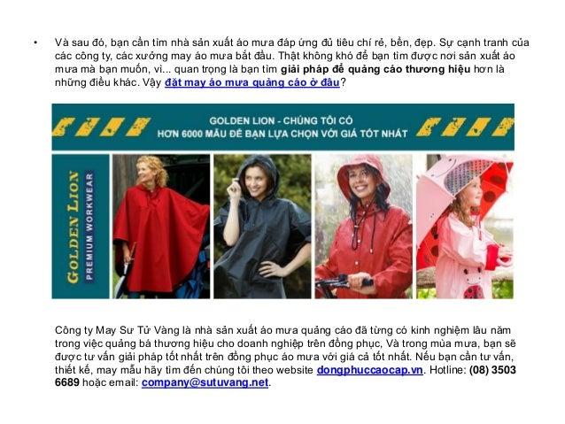 Xưởng may áo mưa quảng cáo giá rẻ, bền, đẹp Slide 2