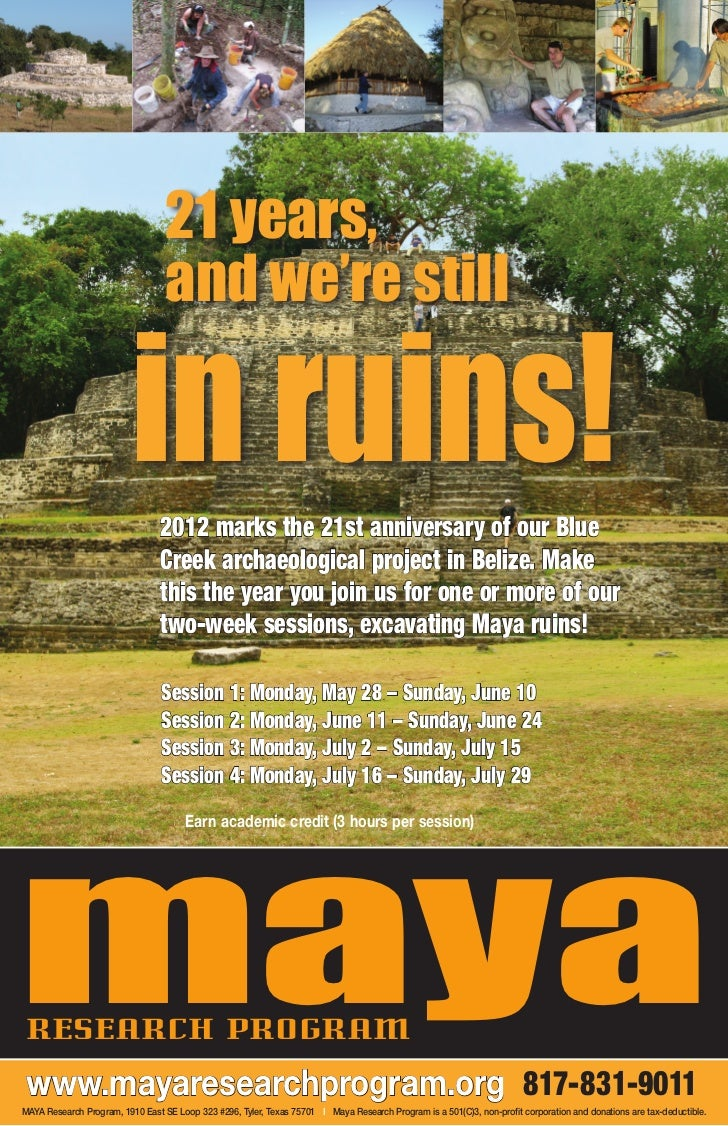 21 years,                                  and we're still                          in ruins!                             ...