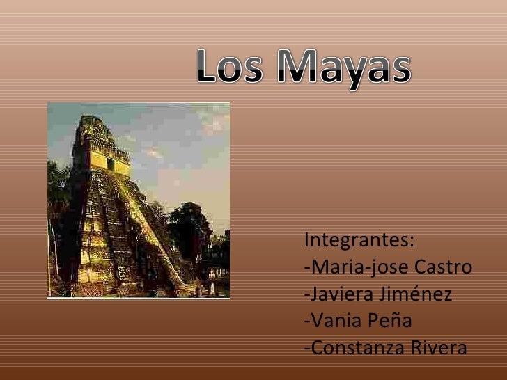 Integrantes: -Maria-jose Castro -Javiera Jiménez -Vania Peña -Constanza Rivera