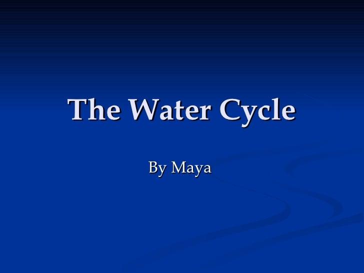 The Water Cycle By Maya