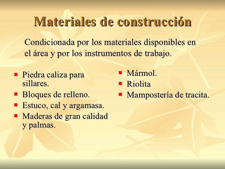 Mayas precl sicos - Materiales de construccion las palmas ...
